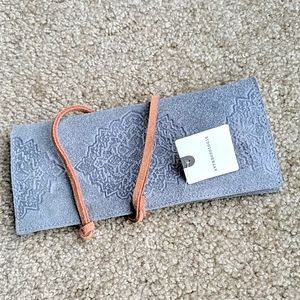 Anthropologie gray leather wallet